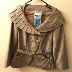 L.a.m.b. Peplum Pleated blazer Gwen Stefani